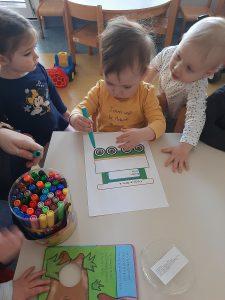 Naša mala knjižnica v skupini Zajčki