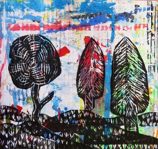 Nagrajena kolekcija grafik na likovnem natečaju »Drevo«